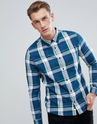 Burton Menswear Checked Shirt In Blue - Blue
