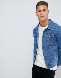 Burton Menswear denim jacket in light blue wash - Blue