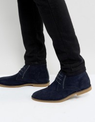 Burton Menswear Desert Boot In Navy - Navy