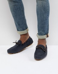 Burton Menswear Driving Shoes In Navy - Navy