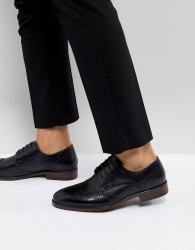 Burton Menswear Leather Brogue In Black - Black