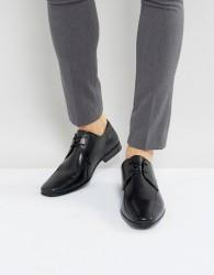 Burton Menswear Leather Smart Shoes In Black - Black