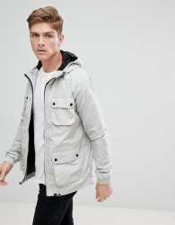 Burton Menswear Multi Pocket Rain Jacket In Grey - Grey