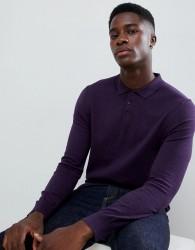Burton Menswear polo neck jumper in plum - Purple