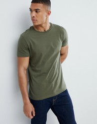 Burton Menswear Regular Fit T-Shirt In Khaki - Green