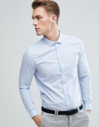 Burton Menswear Skinny Fit Shirt In Blue - Blue