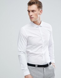 Burton Menswear Skinny Fit Shirt In White - White