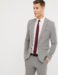 Burton Menswear Skinny Fit Suit Jacket In Light Grey - Grey