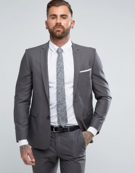 Burton Menswear Skinny Suit Jacket in Grey - Grey