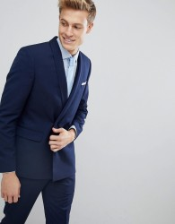 Burton Menswear Skinny Suit Jacket - Navy
