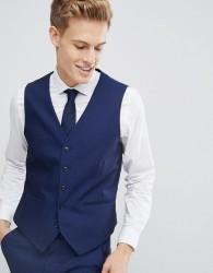 Burton Menswear Skinny Tuxedo Waistcoat - Blue