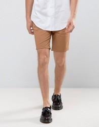 Burton Menswear Slim 5 Pocket Short - Tan