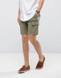 Burton Menswear Slim Cargo Short - Green