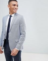 Burton Menswear Slim Fit Pique Blazer - Blue