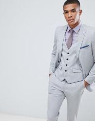 Burton Menswear Slim Fit Suit Jacket In Light Grey - Grey