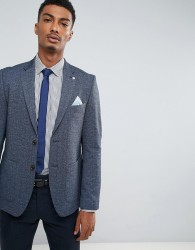 Burton Menswear Slim Jersey Blazer - Navy