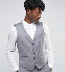 Burton Menswear Slim Texture Waistcoat - Grey