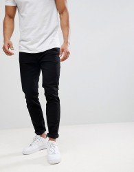 Burton Menswear Tapered Jeans In Black - Black