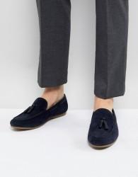 Burton Menswear Tassel Loafer In Black - Navy