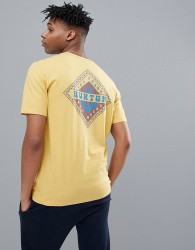 Burton Snowboards Anchor Point Diamond Back Logo T-Shirt in Yellow - Yellow