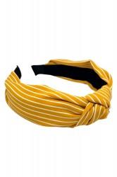 By Stær - Hårbøjle - No. 113 - Stripe Yellow