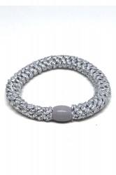 By Stær - Hårelastik - Braided Hairties - Glitter Silver