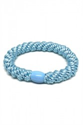 By Stær - Hårelastik - Braided Hairties - Light Blue