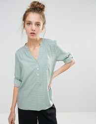 b.Young Collarless 3/4 Sleeve Shirt - Green