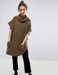 B.Young Kimono Sleeve Turtle Neck - Green