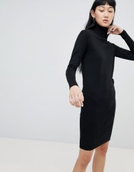 b.Young Roll Neck Jumper Dress - Black