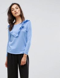 b.Young Ruffle Front Top - Blue