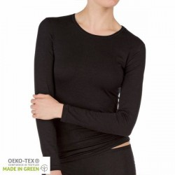 Calida Balance Shirt Long-Sleeve - Black * Kampagne *