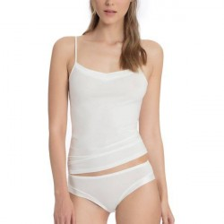 Calida Cate Satin Spagetti Top - White * Kampagne *