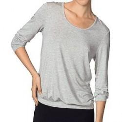 Calida Favourites ¾-Sleeve Top - Greymarl - X-Small