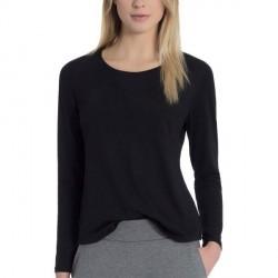 Calida Favourites Essentials Shirt Long Sleeve 037 - Black * Kampagne *