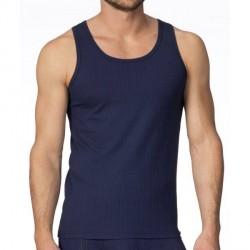 Calida Pure & Striped Athletic Shirt - Darkblue * Kampagne *