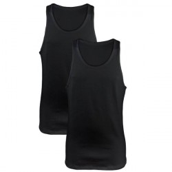 Calvin Klein 2-pak Modern Cotton Stretch Tank - Black