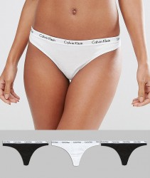 Calvin Klein 3 Pack Thong - Multi