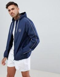 Calvin Klein Beach Windbreaker Jacket - Navy
