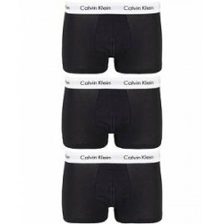 Calvin Klein Cotton Stretch Trunk 3-pack Black
