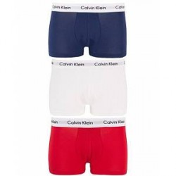 Calvin Klein Cotton Stretch Trunk 3-pack Red/Blue/White
