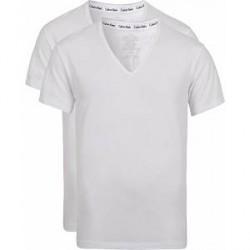 Calvin Klein Cotton V-Neck Tee 2-Pack White