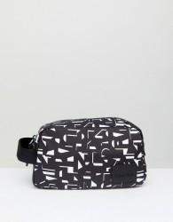 Calvin Klein Ease Washbag in Printed Logo - Black