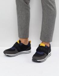 Calvin Klein Encino Strap Runner Trainers - Grey