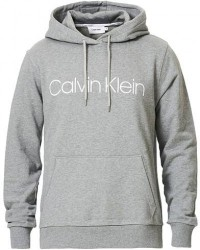 Calvin Klein Front Logo Hoodie Mid Grey Heather men L Grå
