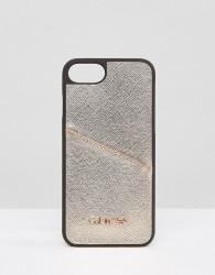 Calvin Klein IPhone 6/6s/7/8 Metallic Case with Logo - Black