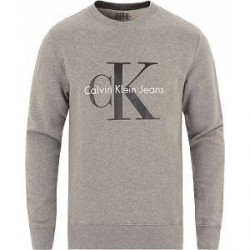 Calvin Klein Jeans True Icon Crew Neck Sweat Mid Grey Heather