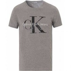 Calvin Klein Jeans True Icon Crew Neck Tee Mid Grey Heather