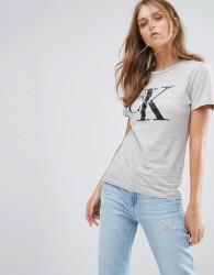 Calvin Klein Logo T-Shirt - Grey