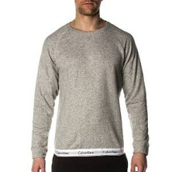 Calvin Klein Modern Cotton Sweatshirt - Grey - X-Large